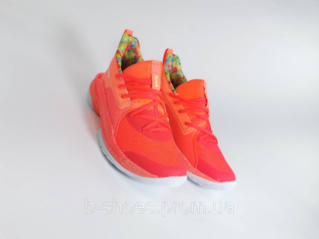 Мужские Баскетбольные кроссовки  Under Armour Curry 7(Orange)