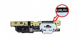 Нижняя плата Meizu M3 Note (L681H) с разьемом зарядки и микрофоном, версия 3.0
