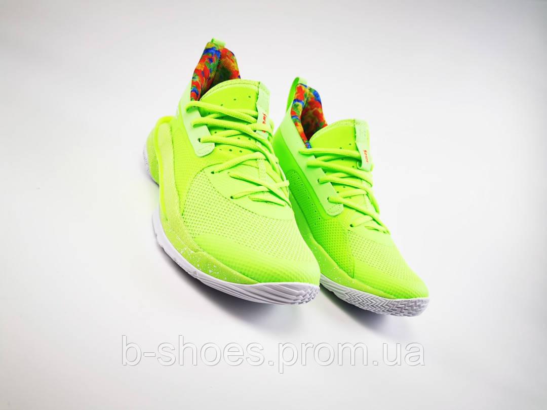 Мужские Баскетбольные кроссовки  Under Armour Curry 7(Green)