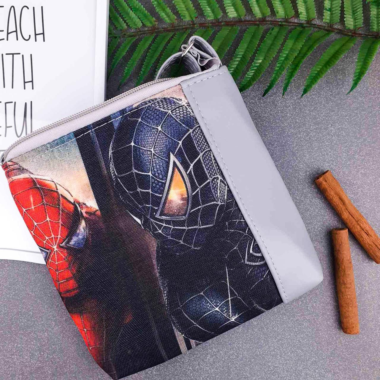 Серая сумка для мальчика Mini Mister с принтом Человек Паук