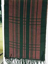 Шарф  мужской двухсторонний  цвет бордо с черным