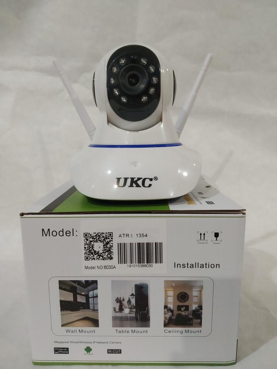 Беспроводная поворотная,управление с телефона IP камера WiFi microSD 6030 ночная съемка, видео няня