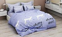Комплект постельного белья евро ранфорс 100% хлопок. Постільна білизна. (арт.13174)