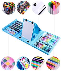 Набор для рисования с мольбертом Just Amazing в чемоданчике (176 предметов) Blue