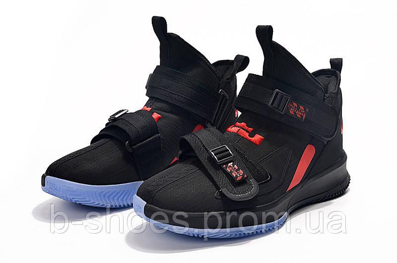 Мужские баскетбольные кроссовки  Nike LeBron Soldier 13(Black)