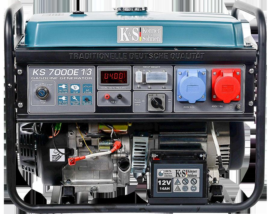 Бензиновый генератор Könner & Söhnen KS 7000E-1/3 (5 кВт)