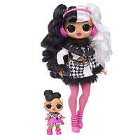 Куколка ЛОЛ Зимнее Диско Леди Глем и сестричка из серии O.M.G. Winter Disco Dollie Fashion Doll & Sister