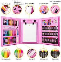 Набор для рисования с мольбертом Just Amazing в чемоданчике (176 предметов) Pink
