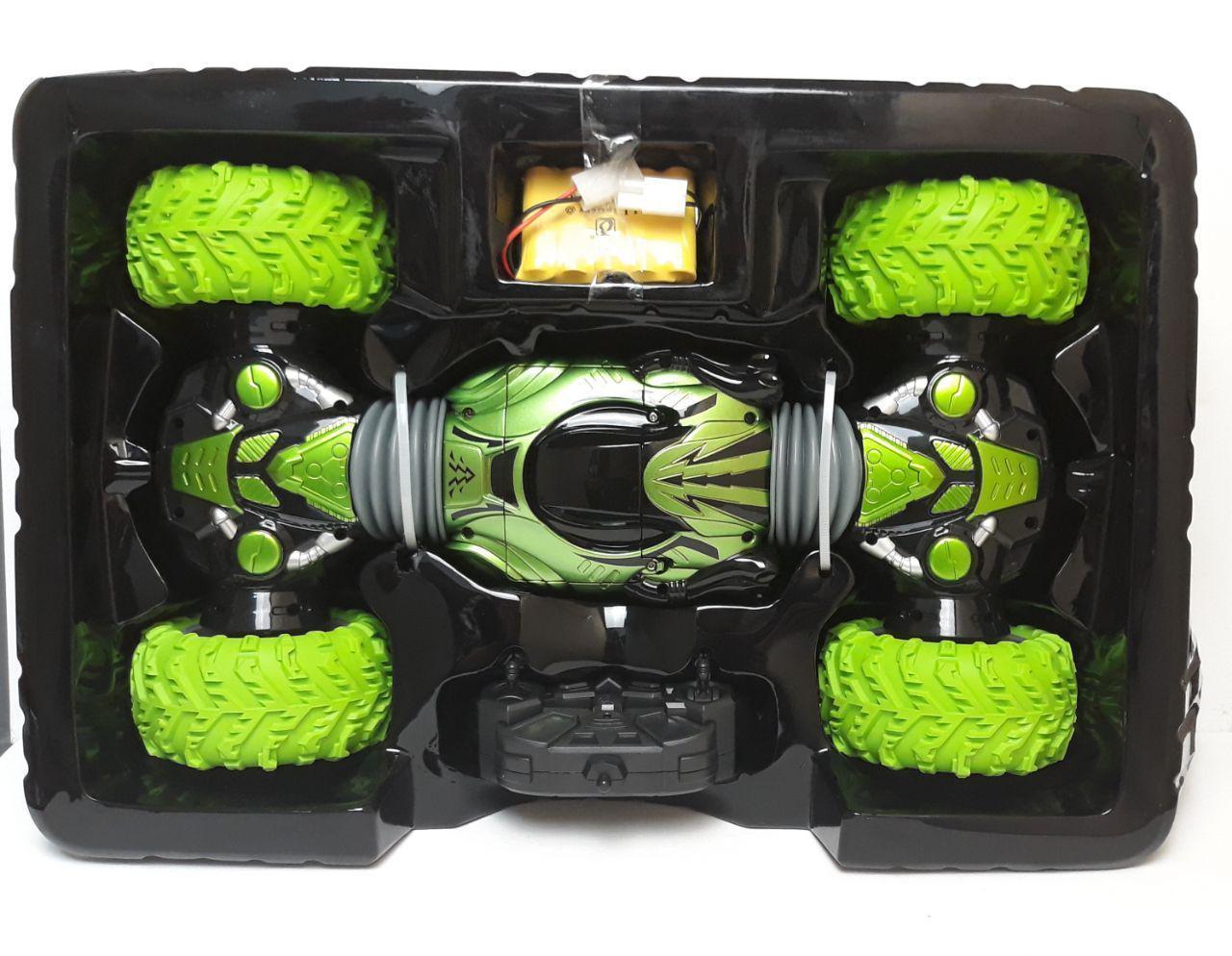 Эксклюзивная  машинка перевертыш на радиоуправлении Champions (42СМ) Зеленая