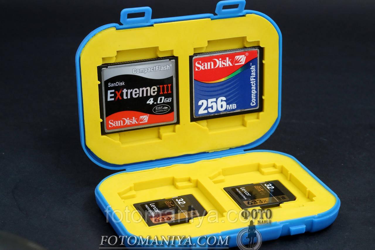 Футляр для карт пам'яті формату SD та CF