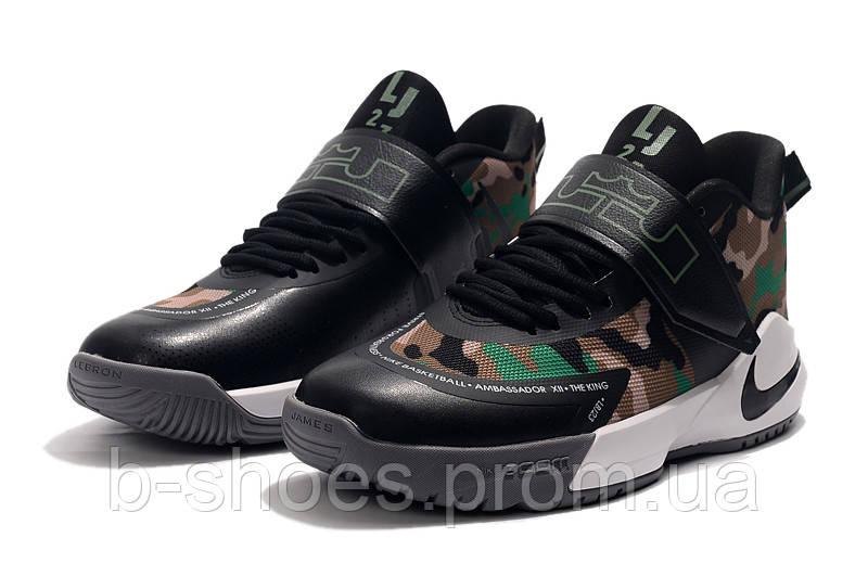 Мужские баскетбольные кроссовки  Nike LeBron   Ambassador 12(Black)