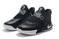 Мужские баскетбольные кроссовки  Nike LeBron   Ambassador 12(Black/white), фото 1