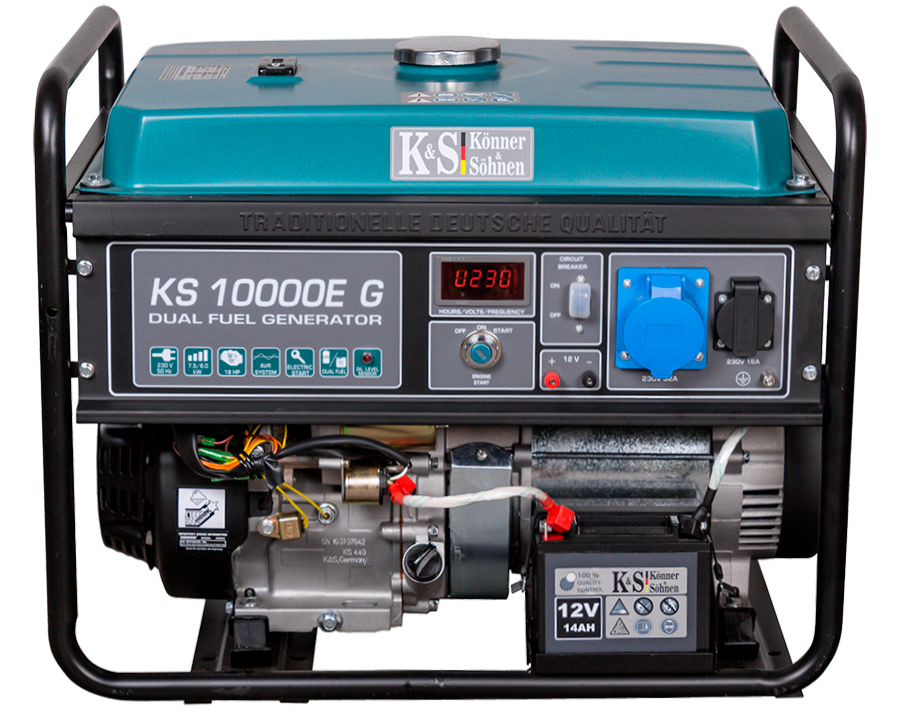 Газо-бензиновый генератор Könner & Söhnen KS 10000E G (8 кВт)