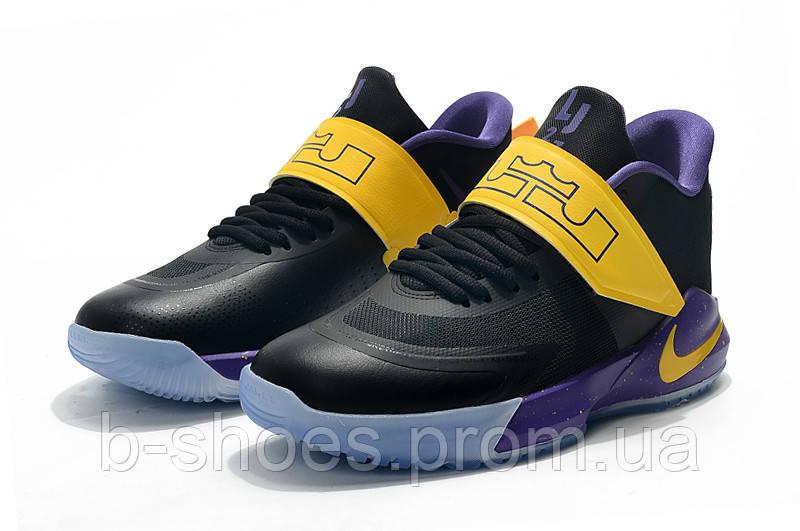 Мужские баскетбольные кроссовки  Nike LeBron   Ambassador 12(Black/yellow)