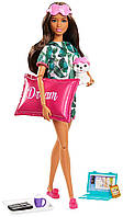 Барби Брюнетка с щенком и 8 аксессуарами  Barbie Relaxation Doll
