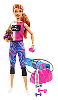 Барби в наряде для фитнеса с щенком и аксессуарами Оригинал (GJG57) (887961810905)