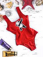 Купальник женский KARELLE's Панда слитный XS красный (17XSпанда)