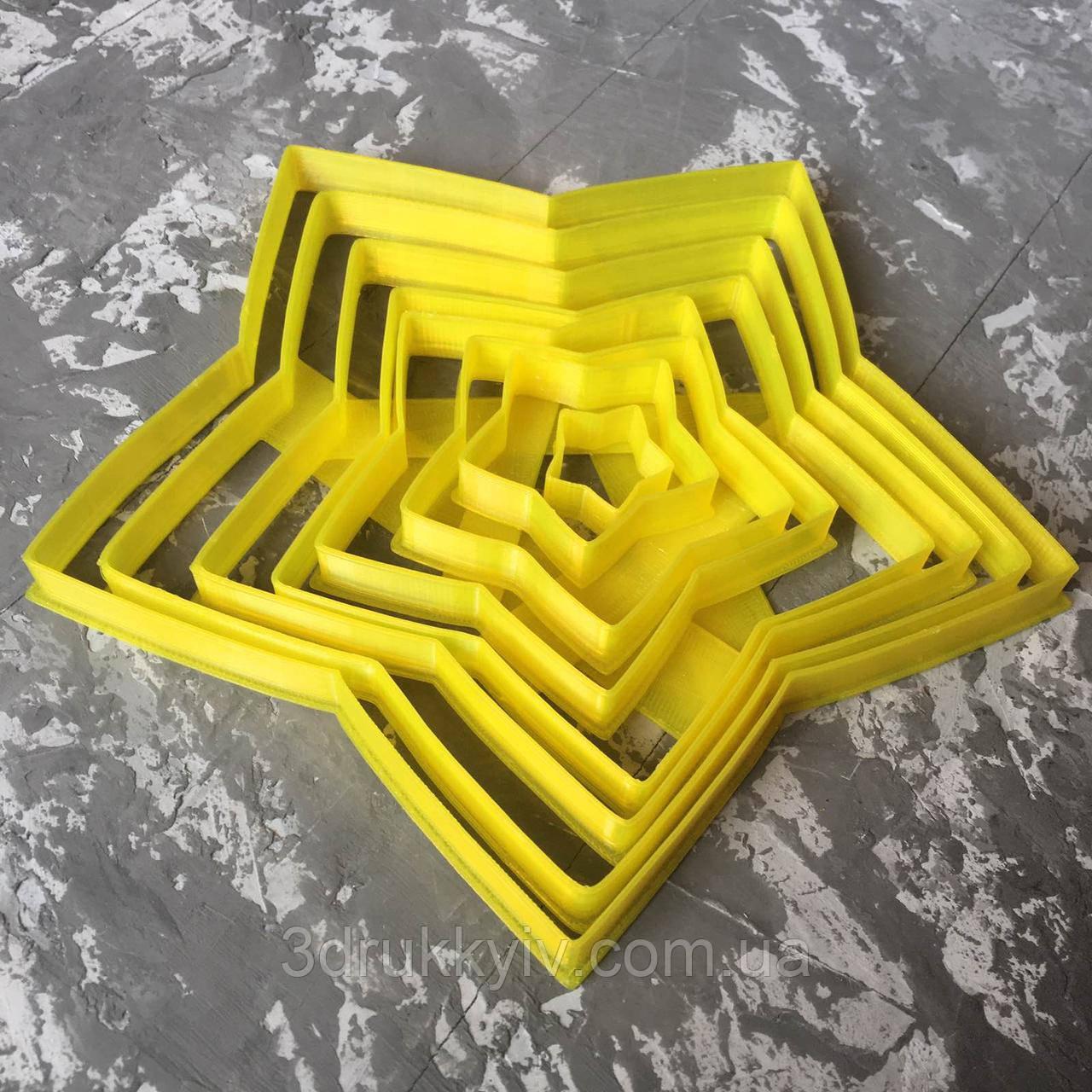 """Набір вирубок """"Ялинка 3d"""" / Набор формочек - вырубок для пряников """"Ёлочка 3d"""""""