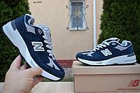 Мужские кроссовки в стиле New Balance 991 синие (серая N), фото 1