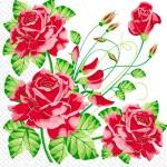 Салфетки розы Марго 18 шт  33х33 см