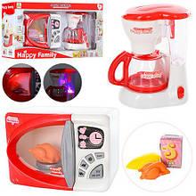 Набор детский микроволновка и кофеварка