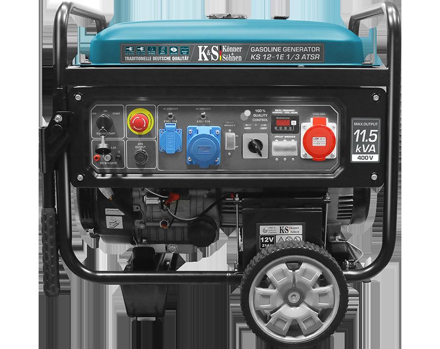 Трехфазный бензиновый генератор Könner & Söhnen KS 12-1E 1/3 ATSR (8.2 кВт)