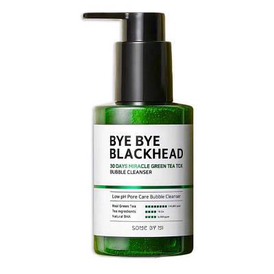 Маска-пінка від чорних точок BY SOME MI Bye Bye Blackhead 30 Days Miracle Green TeaTox Bubble Cleanser