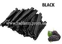 Шапочка одноразовая черная нетканая (спанбонд) на резинке Polix PRO&MED™ (100 шт/уп)