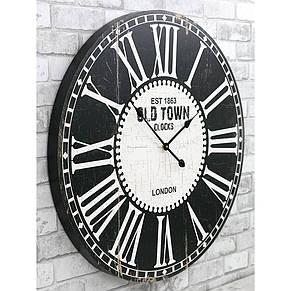 Деревянные настенные часы а ретро стиле 80 см Old Town, фото 3