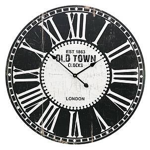 Деревянные настенные часы а ретро стиле 80 см Old Town, фото 2
