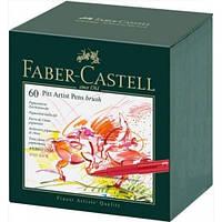Набор лайнеров Faber Castell BRUSH 60 цв. в подарочной коробке (167150)