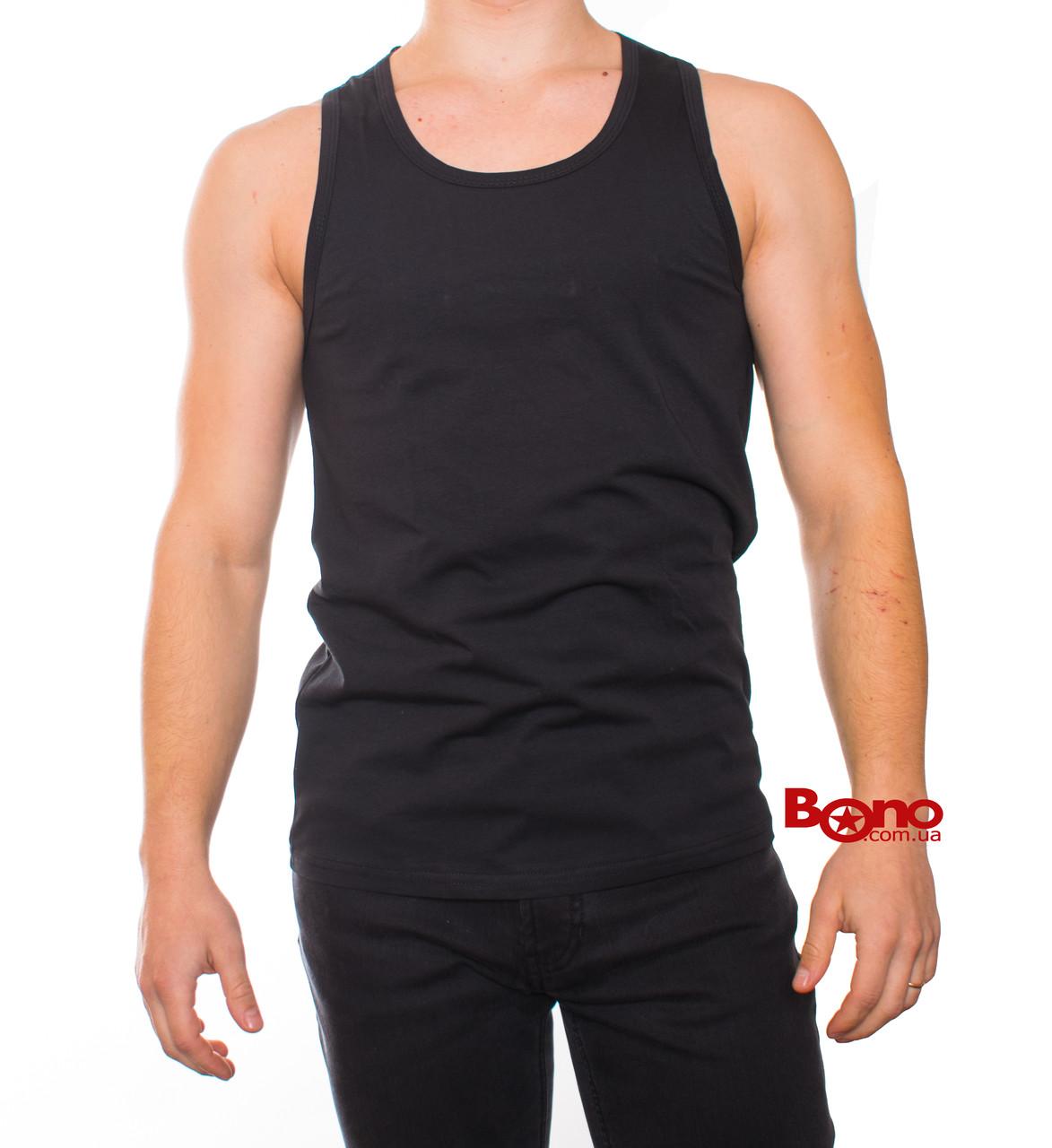 Bono Майка мужская черная хлопок 000101