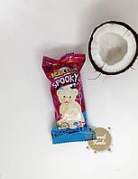 Бисквит Ani Spooky Bear с шоколадным кремом в глазури из белого шоколада и кокосовой стружкой 60гр 1уп-24шт