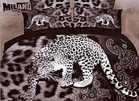 3D Постельное белье Milano Zone  рисунок леопард полуторка, фото 1