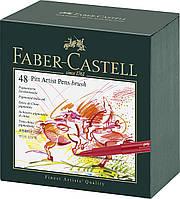 Набор лайнеров Faber Castell BRUSH 48 цв. в подарочной коробке (167148)