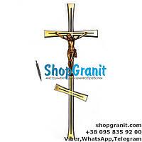 Крест с распятием православный 40*16см Filomat из латуни, бронзы для памятников