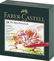 Набор лайнеров Faber Castell BRUSH 24 цв. в подарочной коробке (167147)