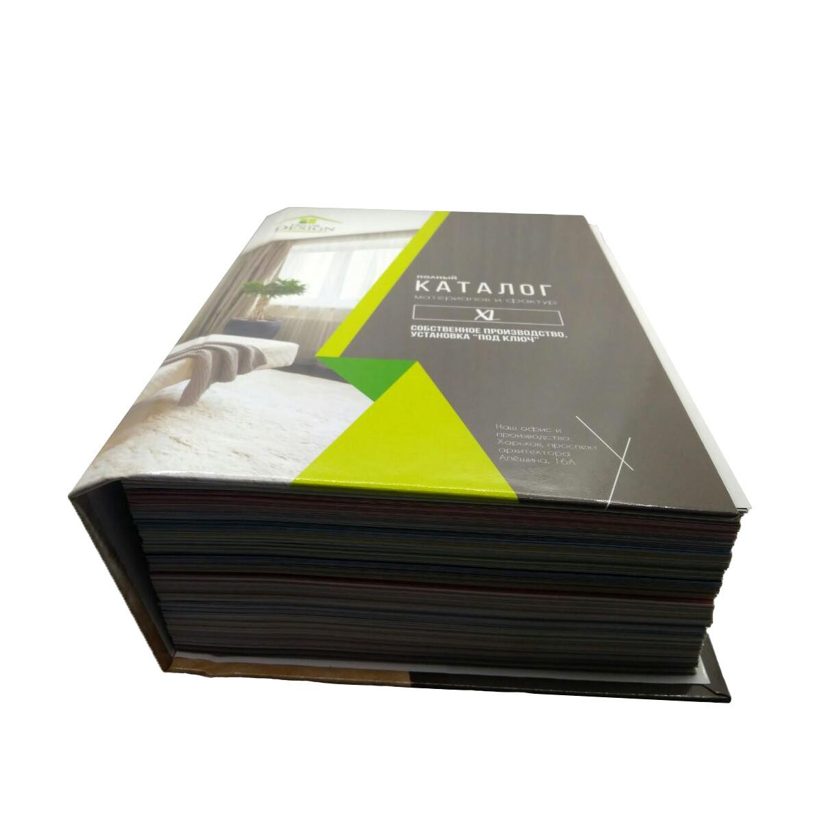 Промо матеріал для натяжних стель. Каталог матеріал для натяжних стель і фактур XL в твердій обкладинці