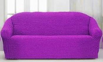 Накидка на 3-х местный диван от 170 до 230 см фиолетовая