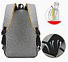 Черный рюкзак городской 3в1 набор 55.98 - Фото