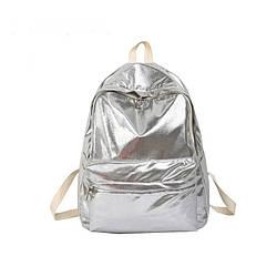 Серебряный молодёжный рюкзак.