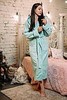 Халат женский хлопковый длинный котонновый (натуральный), размер М, Soft Show