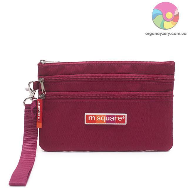Дорожній гаманець (бордовий)
