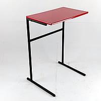 Стол для ноутбука приставной красный - черный