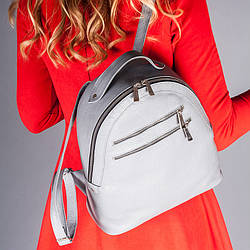 Рюкзак кожаный серый , под заказ в любом цвете.
