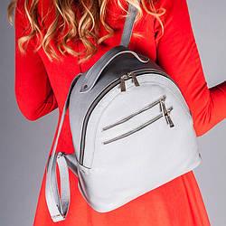 Рюкзак шкіряний сірий , під замовлення в будь-якому кольорі.