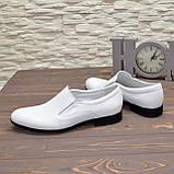 Мужские классические кожаные туфли, цвет белый, фото 3