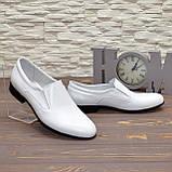 Мужские классические кожаные туфли, цвет белый, фото 4