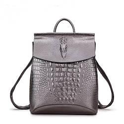 Кожаный рюкзак под змеиную кожу Realer