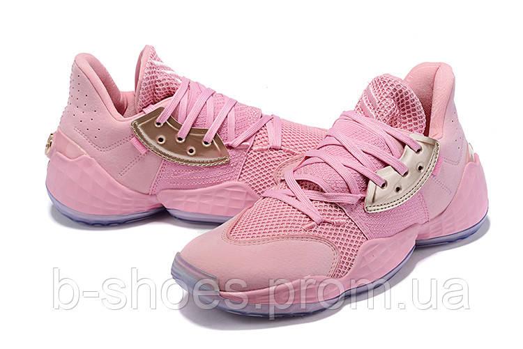 Мужские Баскетбольные кроссовки  Adidas Harden 4(Pink)